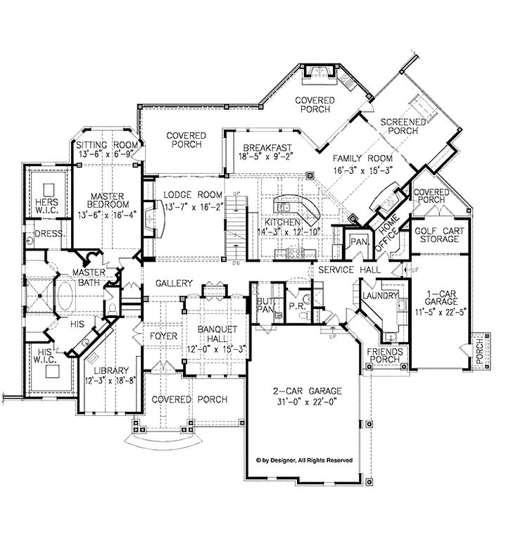 Interesting Plans Would Love To See The Model Of This Home Before Committing It Large House PlansCottage