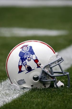 Patriots Broncos Football: Denver, CO - Patriots Throwback Helmet