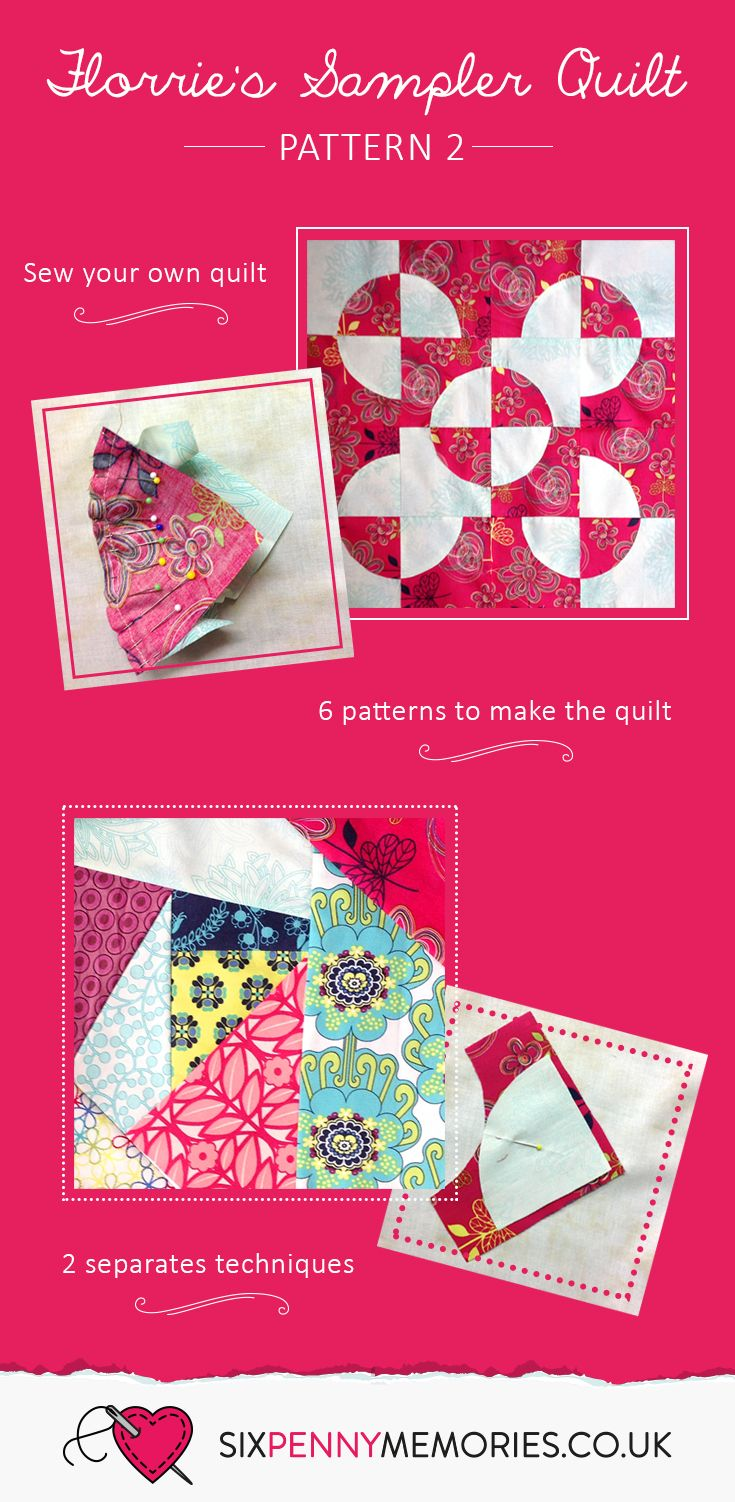 Pattern 2 of Florrie's Sampler Quilt