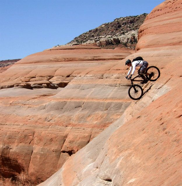 That so wouldn't be me in the pic... Probably not taking it to these heights, but loved these Slick Rock Bike Trails in Moab, Utah!