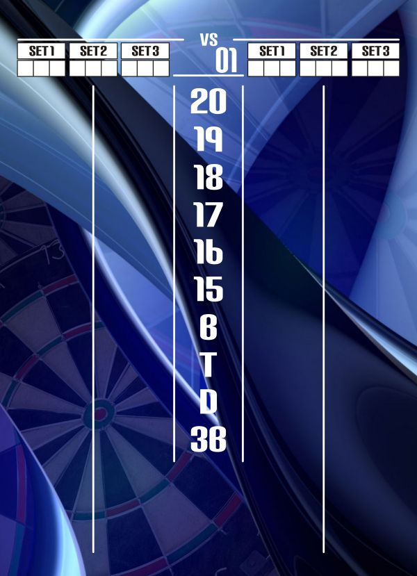 Darts Scoreboards  Lose the old chalk board or standard darts scoreboard you have and step into the convenience of a dry erase scoreboard customized with your choice of design to compliment your game room. In addition to darts themed designs with simplicity, we offer some over-the-top darts themes as well as designs to compliment any Man Cave theme such as pool, auto racing, sports and more.
