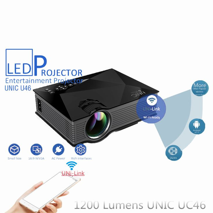 UNIC UC46 Mini Portable HD 1080P Video Home Cinema Projector Support Miracast DLNA Airplay Smartphone Wireless Uni-Link Wifi New