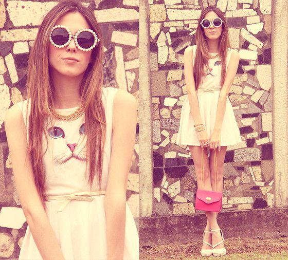 Cute Cat My Fashion Style Pinterest Jupes Lunettes Et Chats