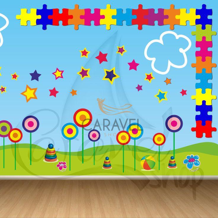 Παιδική Ταπετσαρία τοίχου Παζλ