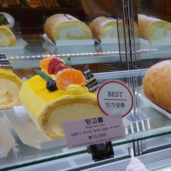 상큼한 과일 토핑과 달콤하고 부드러운 망고 크림이 촉촉한 카스테라 @롯데백화점 An's Bakery