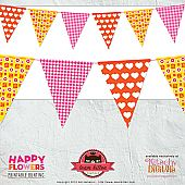 Free Digitals/Patterns/Prints: Flower Buntings, Freeprint Buntings, Banners Printable, Printable Buntings, Buntings Freebies, Happy Flower, Free Happy, Free Printable, Freebies Printable
