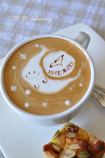 ・‿・ (Coffee and Halloween! Awesome.)