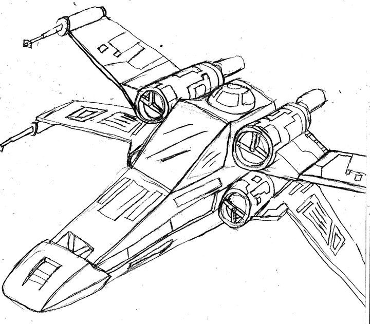 how to draw tie fighter