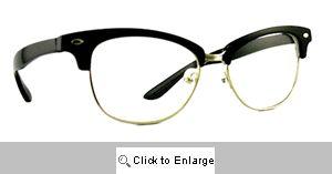 Demi Upturned Clubmaster Glasses - 224 Black