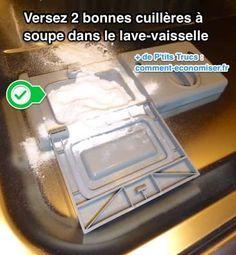 Mettre 2 càs de bicarbonate dans le bac habituel et faire tourner à vide