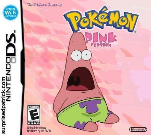 surprised patrick meme pokemon pink