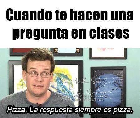 siempre contesta pizza