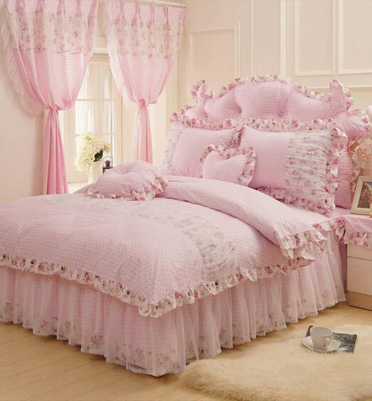 Cotone rustico rosa fiore verde bedding set, teen woman re pieno regina, paese nordico biancheria da letto copriletto federa quilt copertura in                  Vendita calda   Free delivery!!Cute cartoon bedding units teenagers youngsters,twin full 100percentcotton,single house teda Set di biancheria da letto su AliExpress.com | Gruppo Alibaba. *** Find out even more at the photo link
