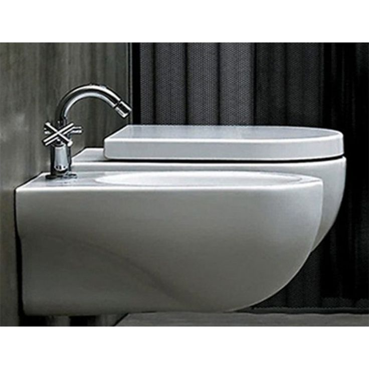 Sanitari Sospesi Ceramica Azzurra Nuvola WC + BIDET + SEDILE