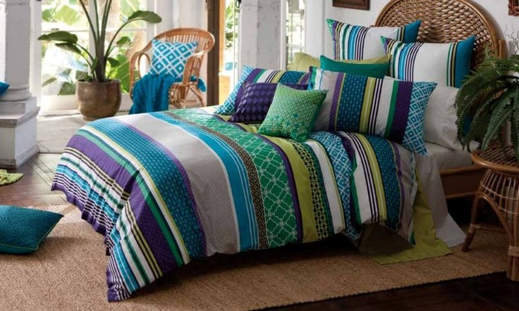 Miami Blue Bed Linen by Kas from Harvey Norman New Zealand