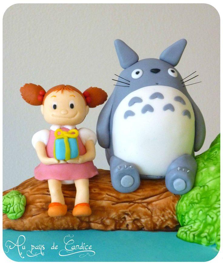 Mei et Totoro en pâte à sucre