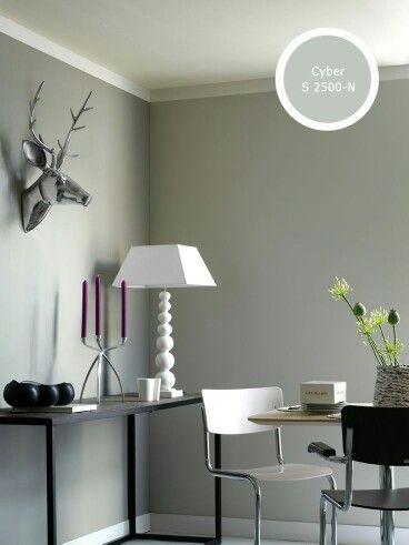 Kleur muur icm zwart