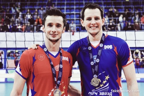 Łukasz Żygadło & Bartosz Kurek - after the All Star Game in Russia :)  photo - fakelvolley.com