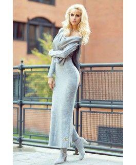 Zocco elegancka sukienka z dzianiny