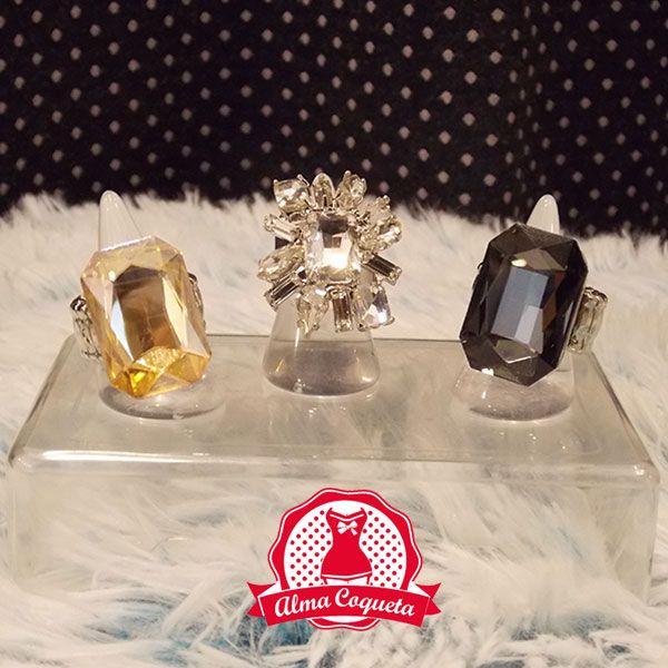 Anillos ajustrables #moda #retro #fashion #almacoqueta #leonesp #bisuteria #anillos  #plata #brillantes