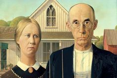 Grant Wood. American Gothic, 1930. The Art Institute of Chicago. Friends of American Art Collection.