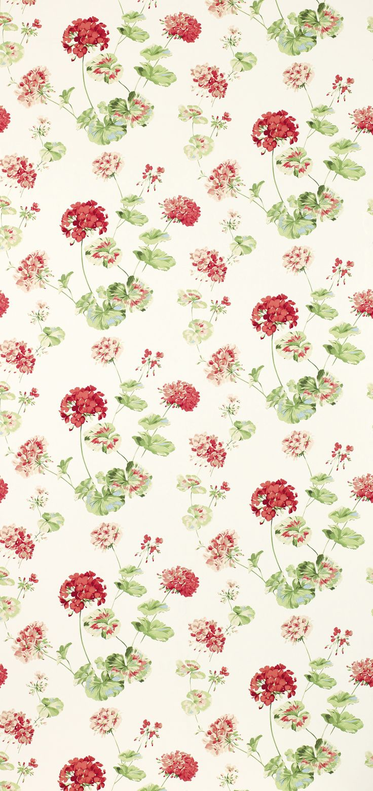 FABRIC PRINTS | Geranium Pale Cranberry from Laura Ashley |