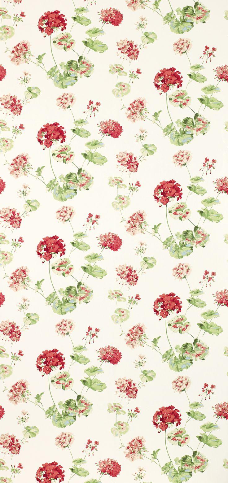 FABRIC PRINTS | Geranium Pale Cranberry from Laura Ashley |