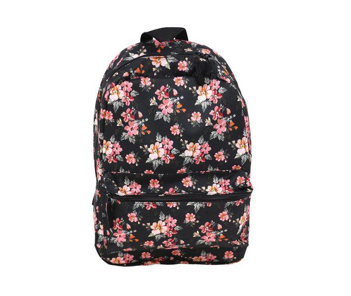 Schreibbedarf & Zubehör - Schulrucksack mit Blumenmuster Aufdruck unisex  - ein Designerstück von MoodyMood bei DaWanda