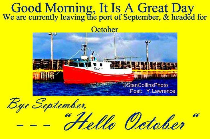Goodbye September, Hello October