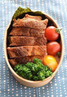Japanese Bento with Panfried Chicken テリテリ鶏の海苔弁