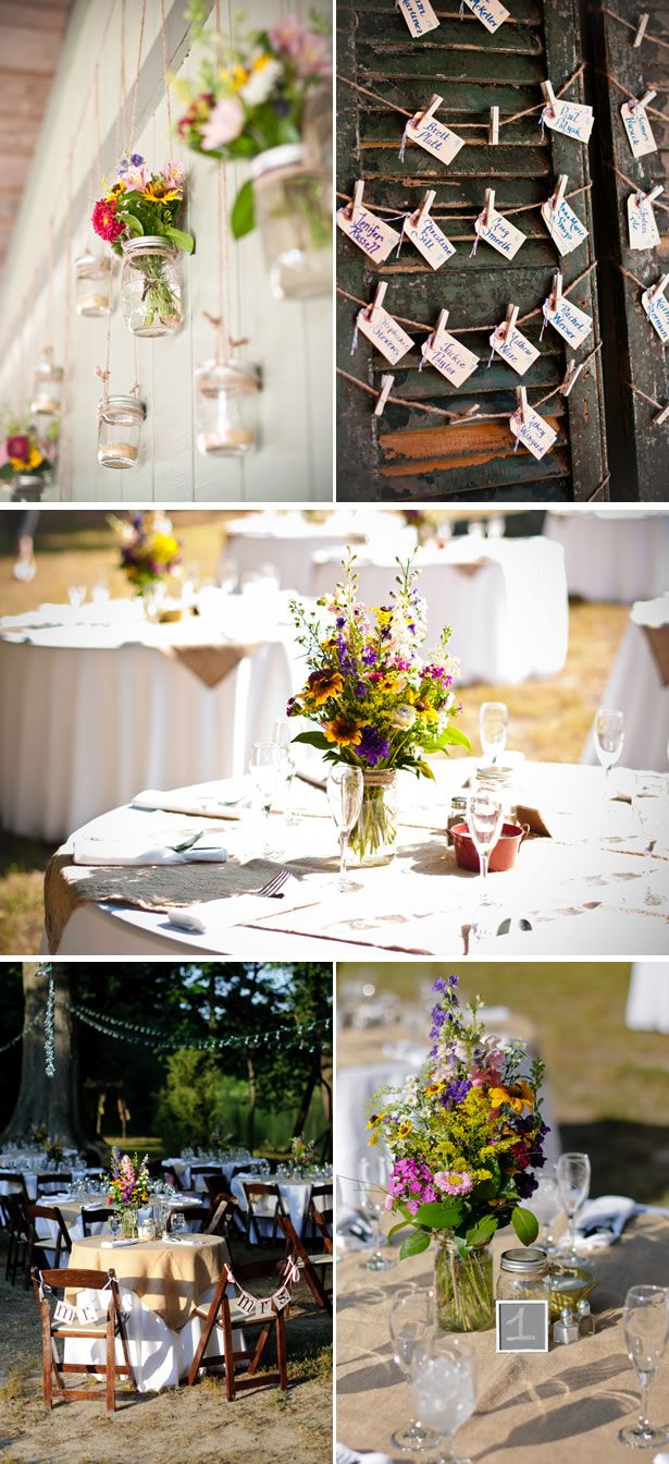 an organic wildflower real wedding in Maryland, photo credit: Kirsten Marie Photography
