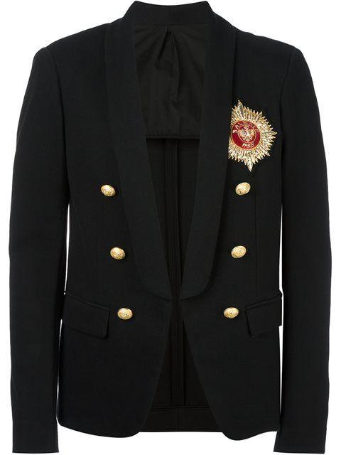 BALMAIN Logo Badge Blazer. #balmain #cloth #blazer