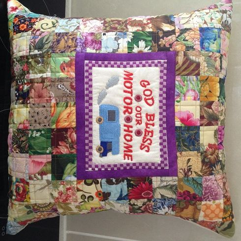 Cushion Cover For Sale $25.00 see listing on  www.catchacreation.com.au, shop  Green Gable Quilts