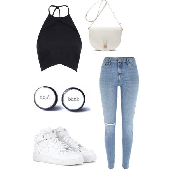 A fashion look from February 2015 featuring River Island pants, NIKE sneakers and Mulberry handbags. Browse and shop related looks.