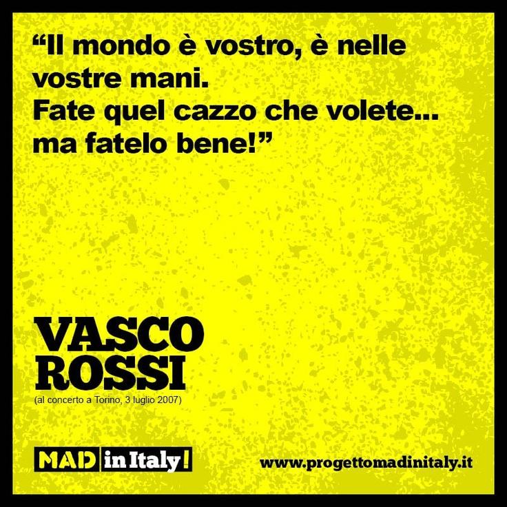 Vasco Rossi Philosophy