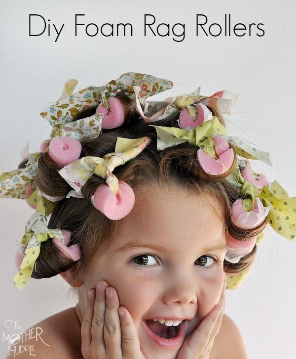Diy Foam Rag Rollers - for perfect curls overnight