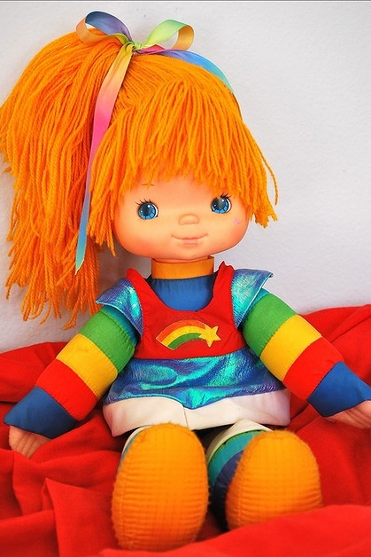 Rainbow Brite brought all the colours of the rainbow to kids around the world in the eighties.  I loved the sprites more, but she was beautiful!