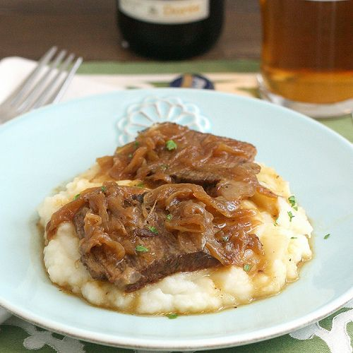 Beer-Braised Beef With Onions Recipe — Dishmaps