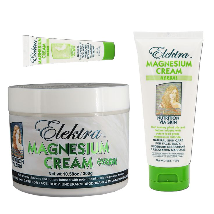 Elektra Magnesium Cream 'Herbal'... Very rich and restorative. Super moisturizing. Great for relaxation massage and recovery.