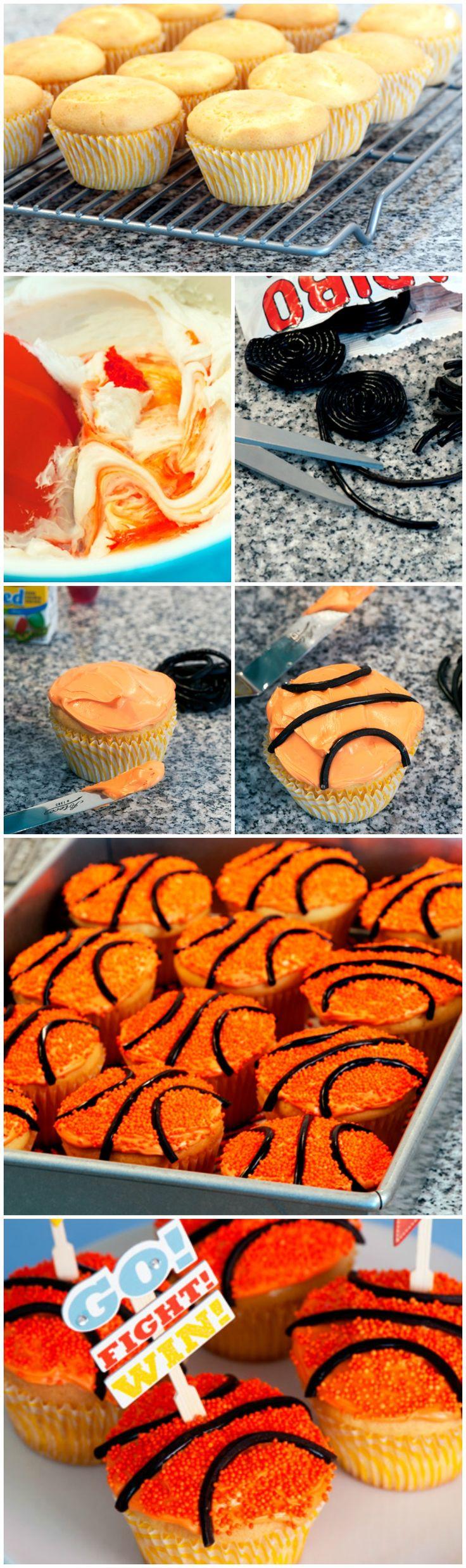 #Basketball Cupcakes