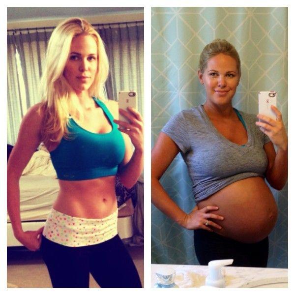Pre-pregnancy & 39 weeks pregnant