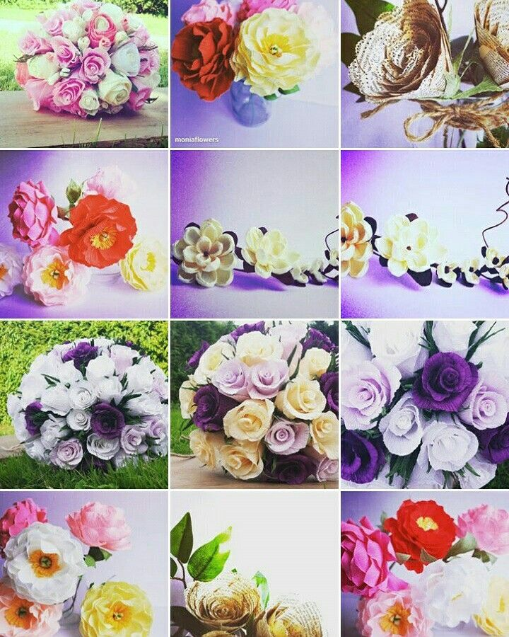 DESIGNER @paperflowersmonika  etsy.com/shop/moniaflowers