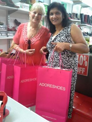 Two new happy customers at Adore Shoes today and it won't be their last visit!