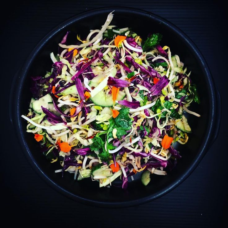 Love coleslaw - the colours are vibrant, it's crunchy it's jam packed with nutrients and I toss this with a lime and coriander home made Mayo - super good  recipe in my upcoming cookbook #fearlessk