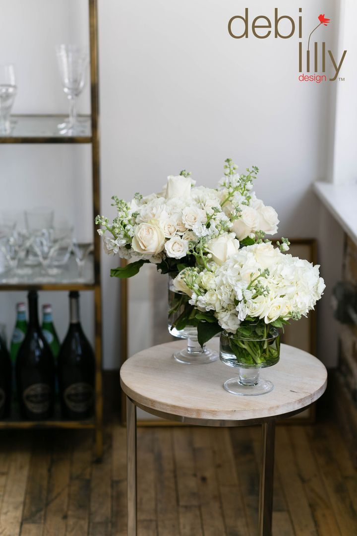 Sometimes simple is just better! Fill your debi lilly design™ pedestal vases with white floral for winter!