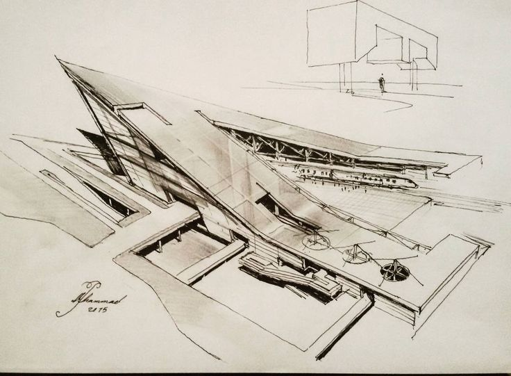 Best Architecture Sketches Images On Pinterest Architecture