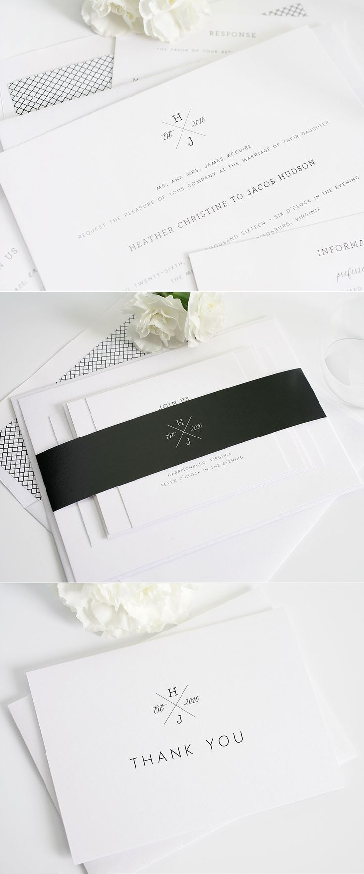Monogrammed wedding invitations from Shine Wedding Invitations. http://www.shineweddinginvitations.com/wedding-invitations/cross-monogram-wedding-invitations