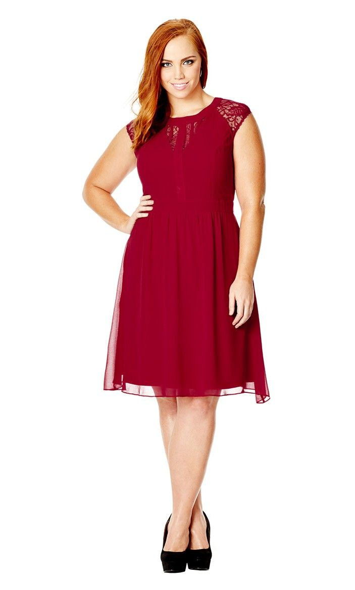 Women's Plus Size Dark Romance Dress - Ruby in ruby | CityChicOnline.com