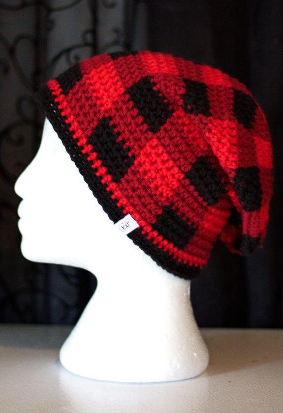 crochet hat slouch lumberjack