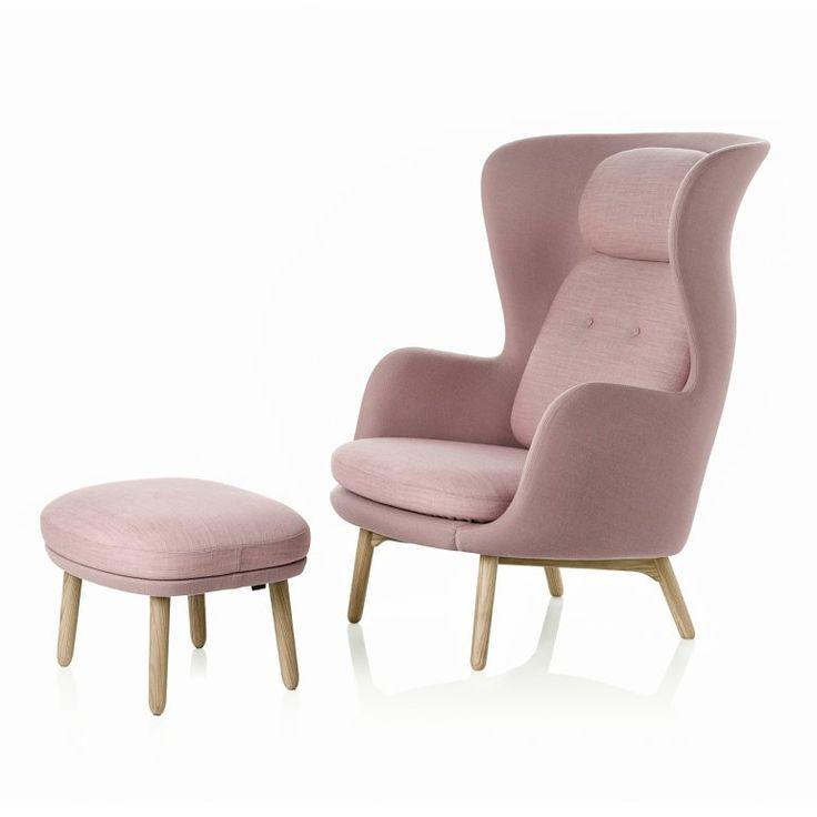 Ro Designers Selection Light Pink Fåtölj inkl. fotpall | Fritz Hansen | Länna Möbler | Handla online